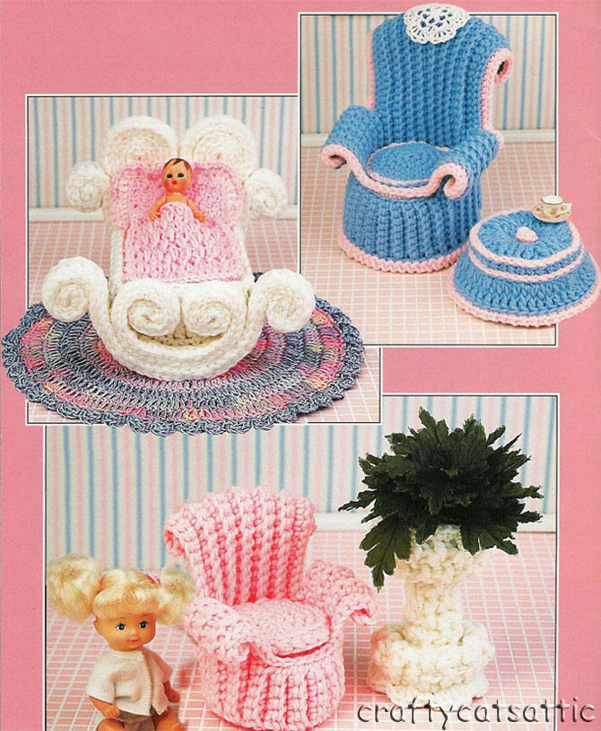 Вязаная мебель для барби вязание для